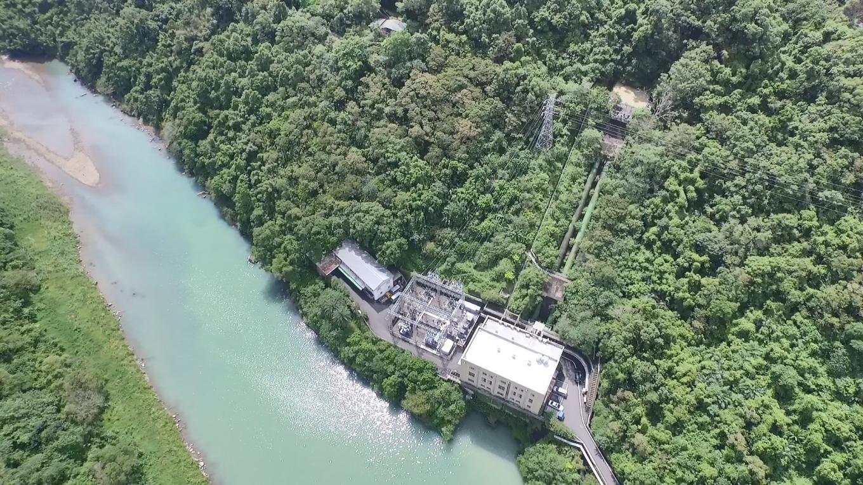 桂山電廠上空俯瞰