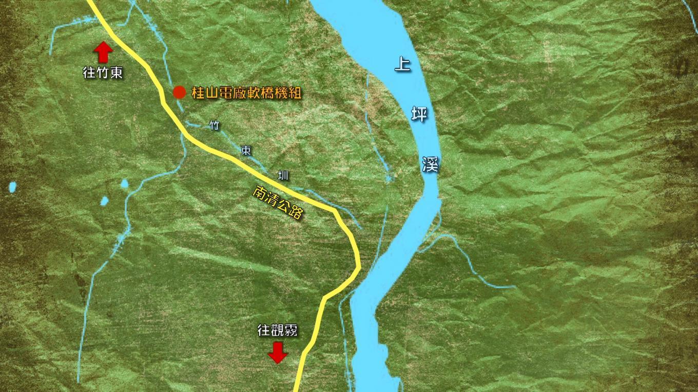 軟橋發電廠位置圖:軟橋發電廠是台灣現存發電量最小的水力發電廠。