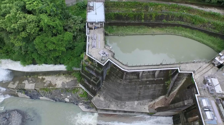 新店溪烏來電廠水源之一的羅好壩取水口