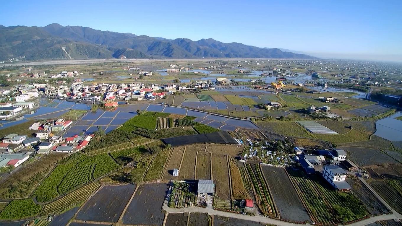 蘭陽溪南區農田俯瞰