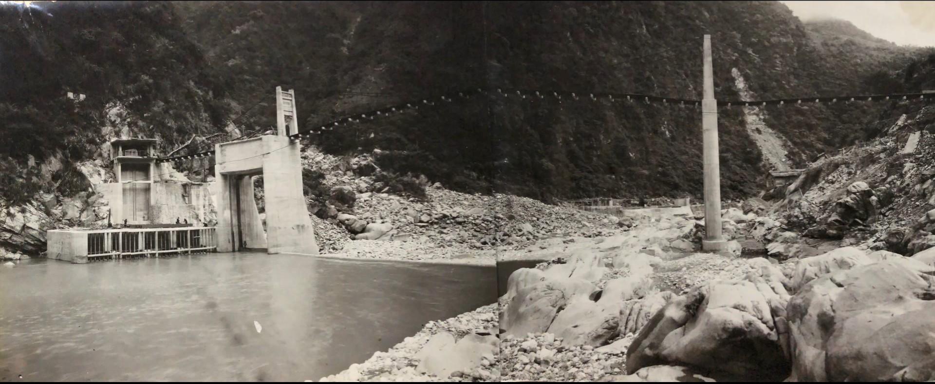 立霧溪流域溪畔壩舊照