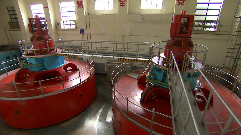 立霧溪流域立霧電廠兩部直立式發電機組