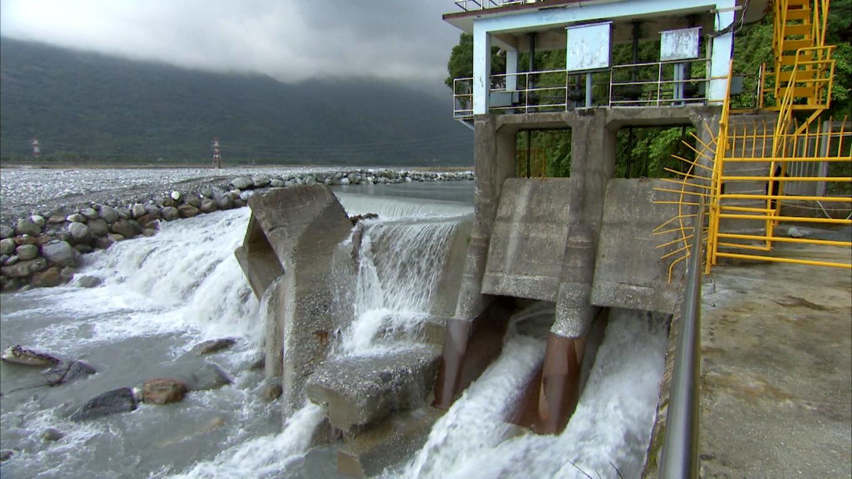 壽豐溪流域溪口電廠臨時壩及進水口