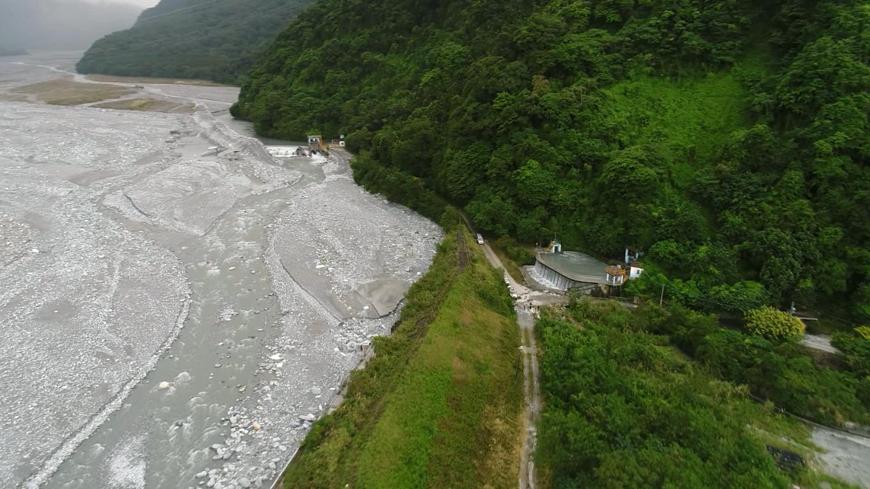 壽豐溪流域溪口電廠取水口及沉沙池