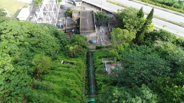壽豐溪流域溪口電廠壓力鋼管(長68.57公尺)