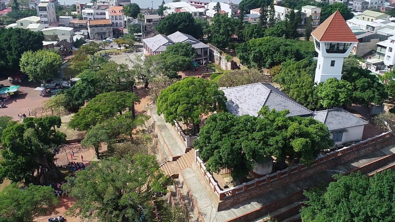 安平港:安平古堡空拍圖(昔日熱蘭遮城)