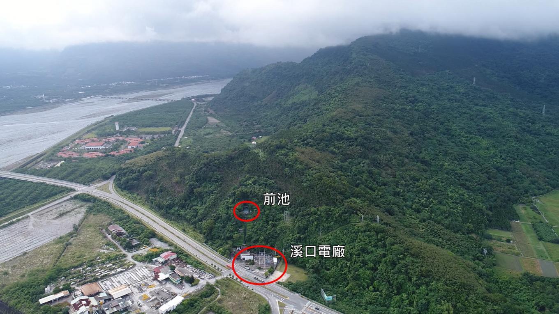 壽豐溪流域溪口電廠及前池