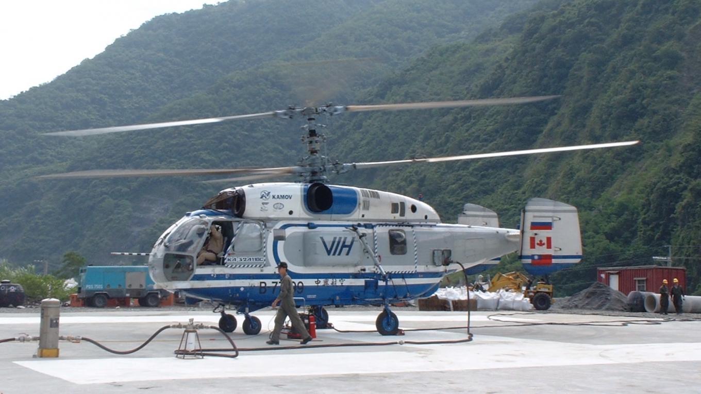和平溪流域碧海水力發電工程之直升機工法