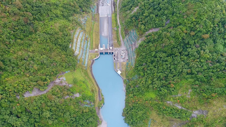 和平溪流域南溪壩上空俯瞰