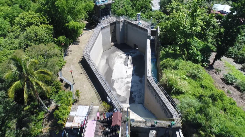 高屏溪流域竹門電廠更新後的前池