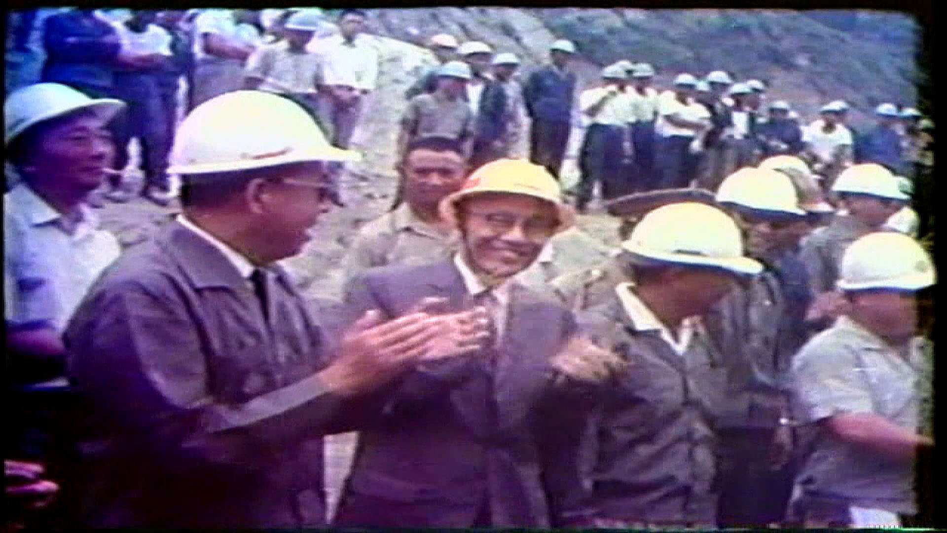榮工處承建之曾文水庫於民國59年10月31日大壩奠基典禮