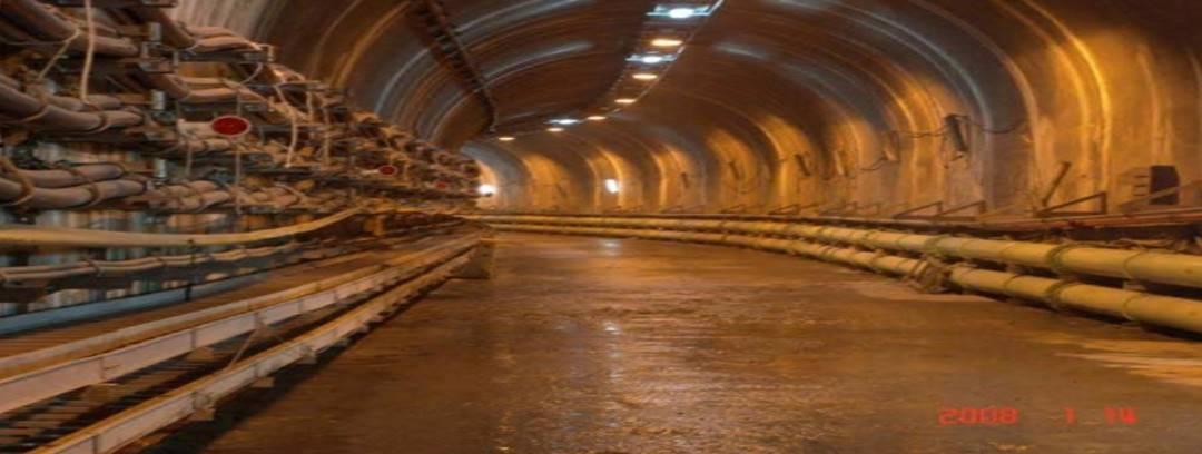 谷關電廠補強處理後之排水廊道