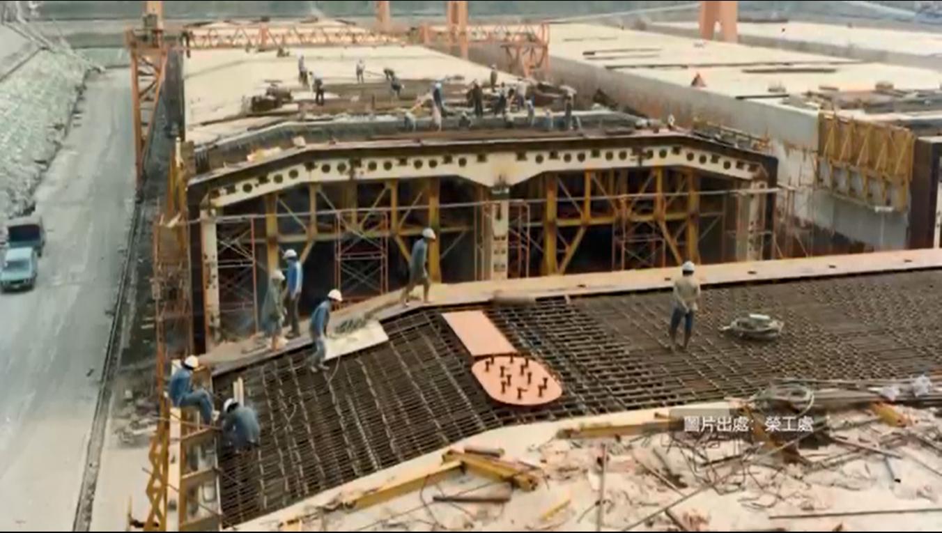 高雄港:高雄過港隧道沉箱製作