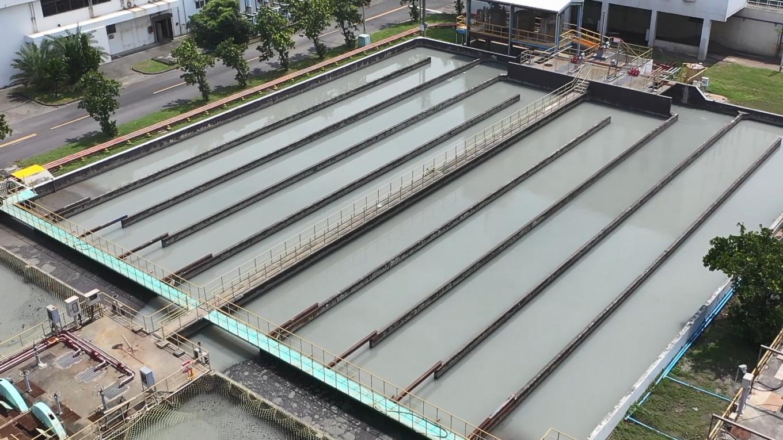 高雄港:中洲污水處理廠南加氯消毒池