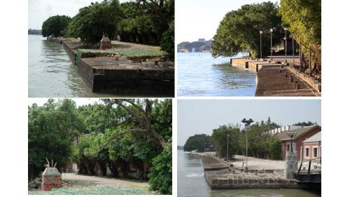 淡水港:清領時期淡水海關碼頭在臺灣近代史上一直扮演著重要地位(1862年7月滬尾開設海關,正式收稅)