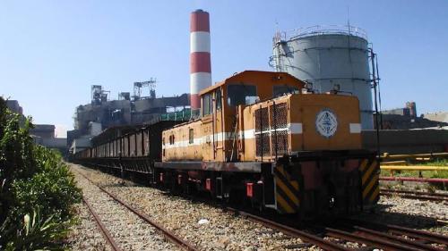 林口電廠廠區內的桃林鐵路。於2012年停駛,如今僅存鐵軌