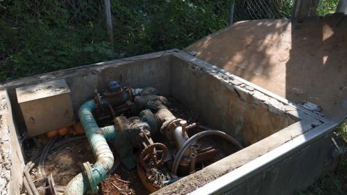 林口電廠產生蒸汽的淡水來源的海湖深水井:海湖深水井共計有6口,每口直徑30公分,深60公尺,距離電廠約2至5公里。
