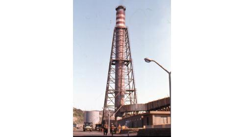 林口電廠柴油發電機之排氣煙囪