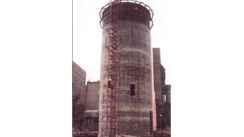 林口電廠煤倉筒殼澆製完成