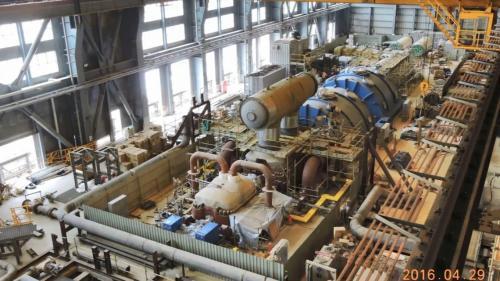 林口電廠建置中的超超臨界燃煤機組