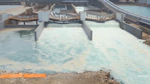 林口電廠擴建工程出水口導流堤