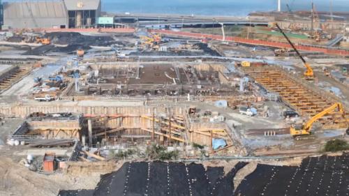 林口電廠建造中的新林一機