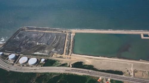 林口電廠第一期灰塘(原灰塘位置興建新的密閉筒式煤倉)