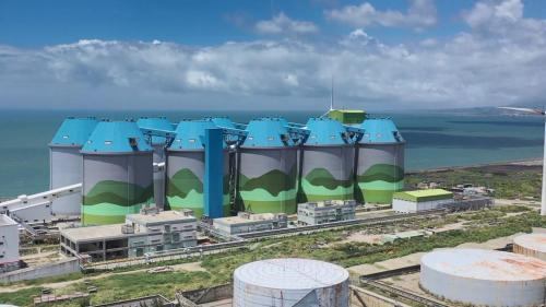 林口電廠十座筒式煤倉