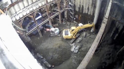 林口電廠輸煤廊道使用的管幕工法施工:支撐及結構體施作階段