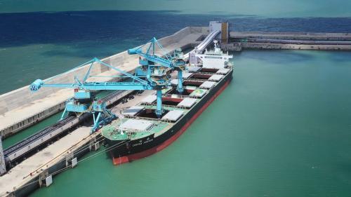 林口電廠卸煤碼頭及煤輪