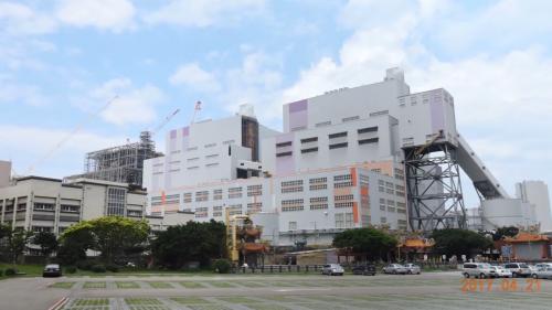 擴建中的林口電廠