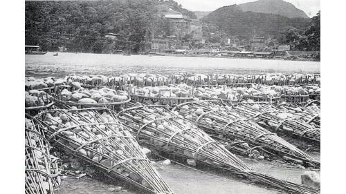 瑠公圳圳頭大宅庄(碧潭)竹蛇籠攔水堤