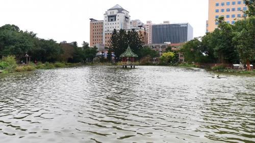台大醉月湖 近四十年來,台北都市快速發展,昔日肩負大台北地區農田灌溉、 工業用水及日常生活用水的瑠公圳,亦隨之功成身退。