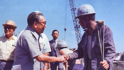 1976年蔣經國院長視察蘇澳港