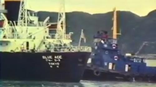 蘇澳港的萬噸級貨輪:1976年11月19日,一艘萬噸級的貨輪駛進了蘇澳港,為蘭陽平原日後的發展揭開序幕。