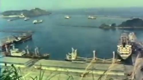 完工後的蘇澳港: 1983年6月,蘇澳港第二期工程全部完成。