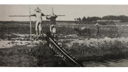 鳥山頭水庫:早期嘉南平原灌溉用,土名『龍骨車給水器』的局部性引水灌溉設施