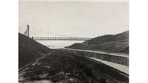 烏山頭水庫余水吐(溢洪道)-鐵線橋(長240尺)附近段