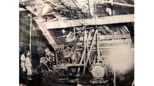 烏山頭水庫:嘉南大圳送水隧道拱施工