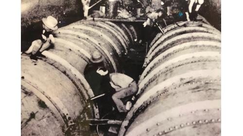 烏山頭水庫排水隧道的壓力鋼管施工