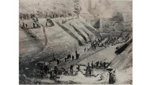 烏山頭水庫排水隧道出口暗渠工事