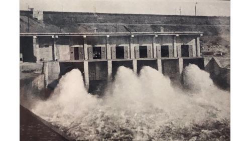 烏山頭水庫舊放水口:流量2500立方公尺每秒