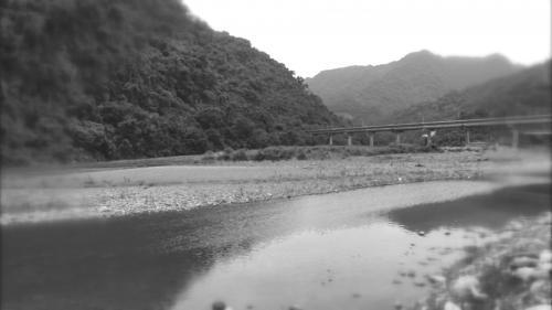 舊龜山電廠遺址處翡翠水庫入口的混凝土橋(一號橋)