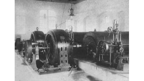 舊龜山電廠:龜山廠房初期發電機組