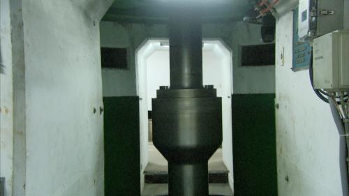 小粗坑電廠發電機轉軸