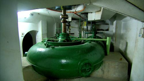 小粗坑電廠5號發電機之水輪機