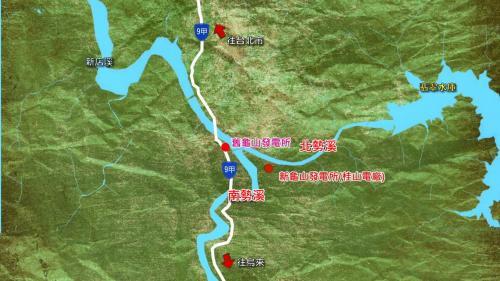桂山電廠位置: 「新龜山發電廠」(桂山電廠)位於文山郡新店庄龜山(今新店桂山路)。