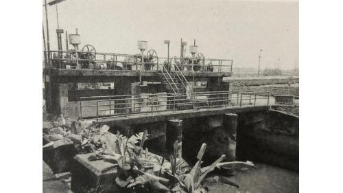 嘉南大圳:北港支線取入水門  戰後改為弧形水門