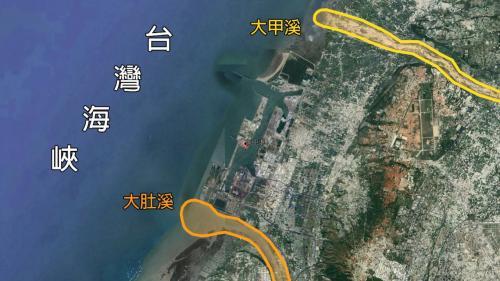 台中港範圍:港區範圍北起大甲溪南岸,南至大肚溪北岸,西臨台灣海峽。