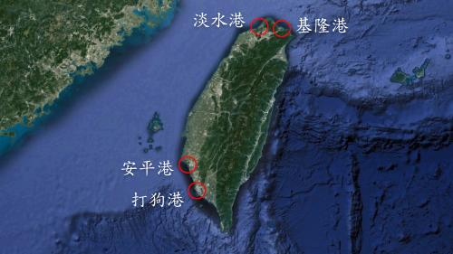 台中港:台灣昔日對外通商港口集中在北部及南部